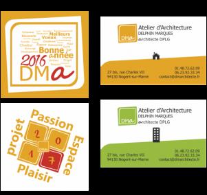 Logo, carte de voeux et de visite pour architecte