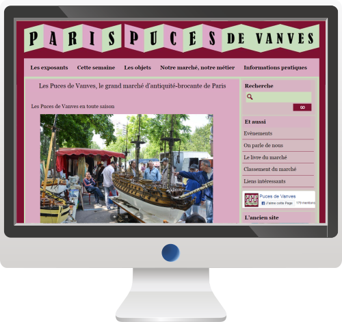 Site Internet<br>Marché et Puces
