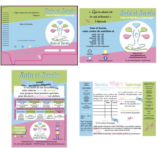 Communication imprimée<br>Nutrition et sophrologie