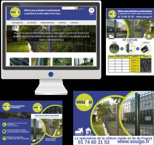 Site Internet et communication imprimée – Aménagement de jardins et locaux