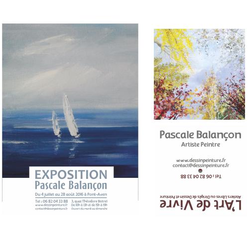 Communication imprimée artiste peintre