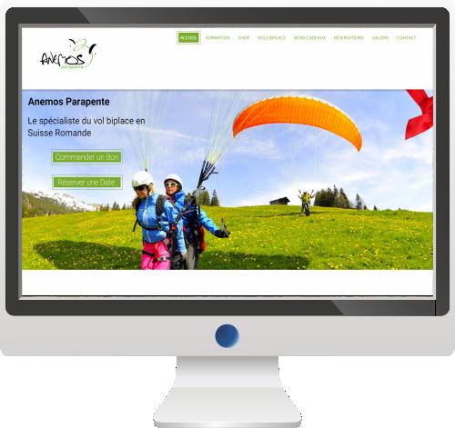 Site Internet<br>Société de Parapente