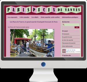 Site InternetMarché et Puces