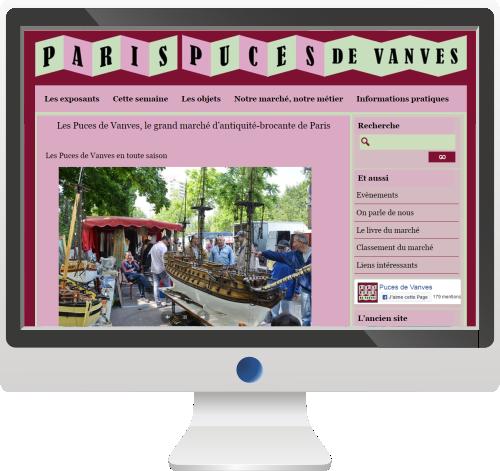 Marché et Puces<br>Site Internet