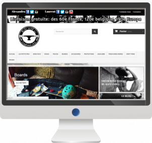 Vente de LongboardsSite E-commerce