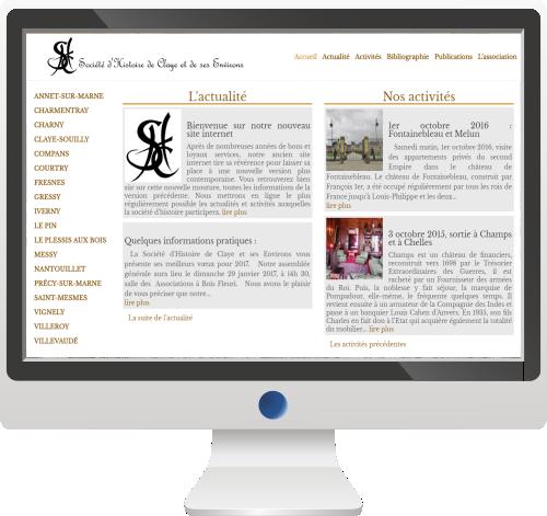 Société d'Histoire<br>Site Internet