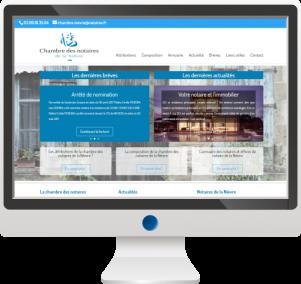 Site Internet Chambre des Notaires de la Nièvre