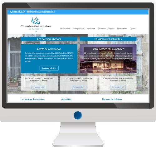 Chambre des Notaires de la Nièvre<br>Site Internet