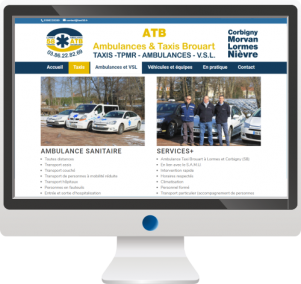 Taxis & AmbulancesSite InternetLogoPrint