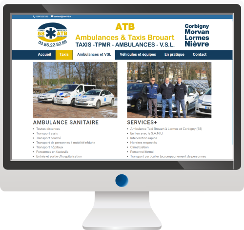 Taxis & Ambulances<br>Site Internet<br>Logo<br>Print